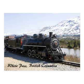 White Pass Train in Snow Postcard