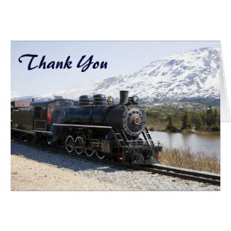 White Pass Train in Snow Thank You Card