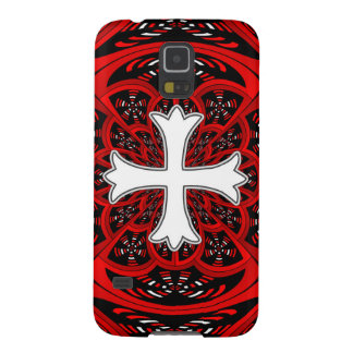 White patonce cross galaxy s5 cases