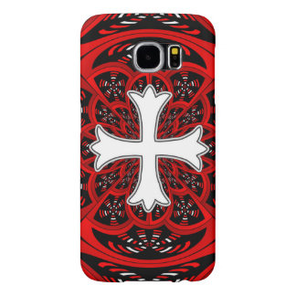 White patonce cross samsung galaxy s6 cases