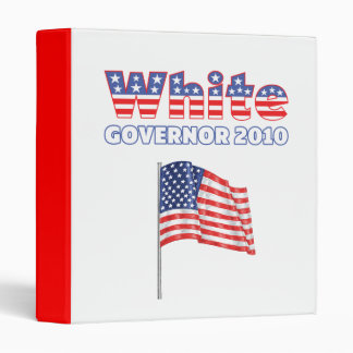 White Patriotic American Flag 2010 Elections Binder