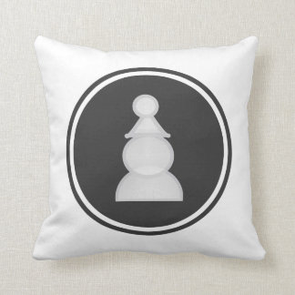 White Pawn Chess Throw Pillow