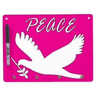 white peace dove dry erase whiteboards