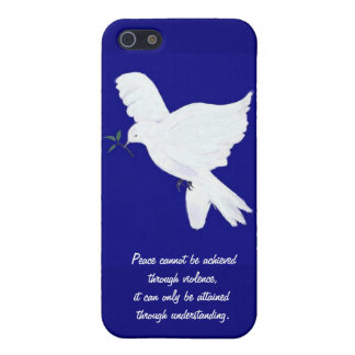 White Peace Dove-Quote iPhone 5 Case