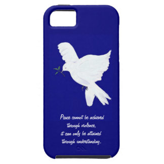 White Peace Dove-Quote iPhone 5 Covers