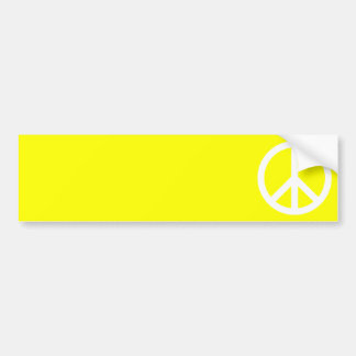 White Peace Sign Bumper Sticker