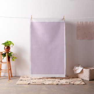 White Peace Signs on Pastel Lilac Fabric