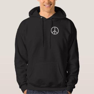White Peace Symbol Hoodie