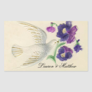 White peaceful Christmas Dove Sticker