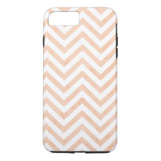 White Peach Chevrons iPhone 7 Plus, Tough iPhone 7 Plus Case
