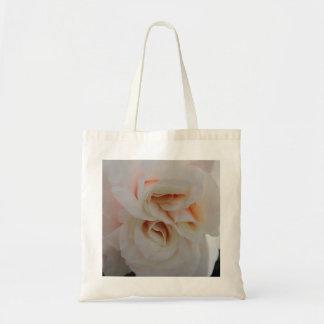 White-Peach Rose Tote Bag