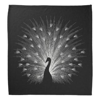 White peacock bandana