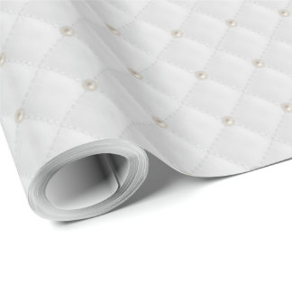 White Pearl Stud Quilted
