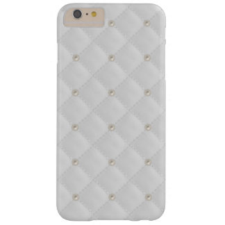 White Pearl Stud Quilted Barely There iPhone 6 Plus Case