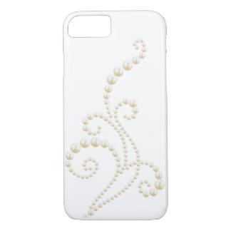 White Pearls Swirl iPhone 7 Case