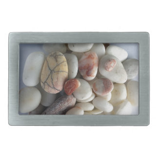 white pebbles belt buckle