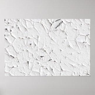 White Peeling Paint Poster