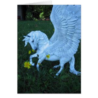 White Pegasus Greeting Card