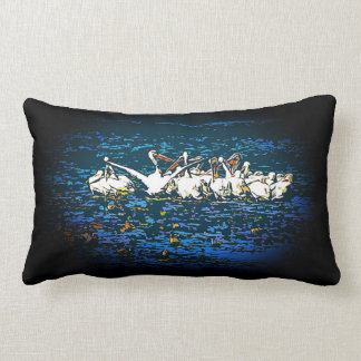 White Pelican Birds Wildlife Animals Throw Pillow