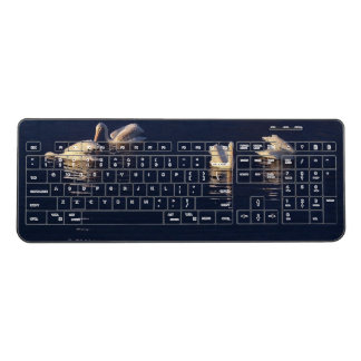White Pelican Birds Wildlife Wireless Keyboard
