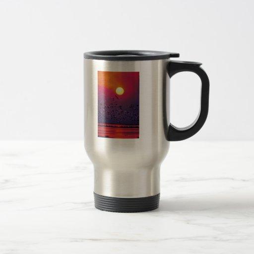 White Pelican in Haze Coffee Mug