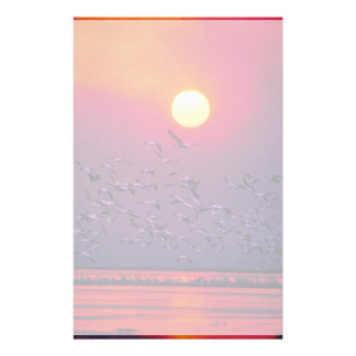 White Pelican in Haze Stationery