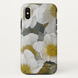 WHITE PEONIES WITH GOLD CENTERS Case-Mate iPhone CASE