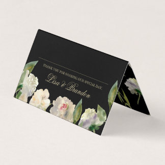 White Peony | Wedding Place Cards