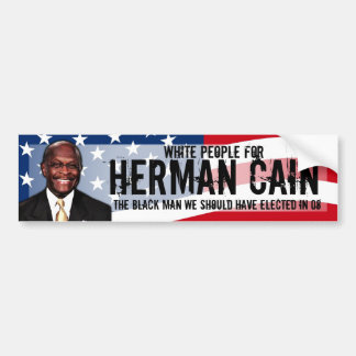 White People for Herman Cain Decal