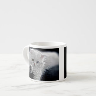 White Persian Kitten Espresso Cup