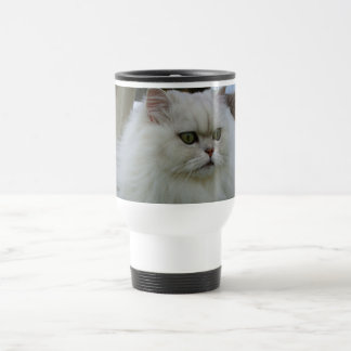 White Persian Travel Mug