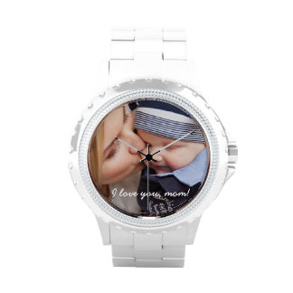 White Personalized Watches - Unique Gifts For Mom