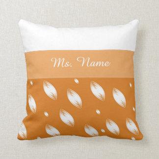 White petalls customizable pillow