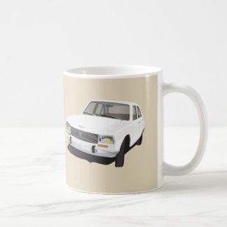 White Peugeot 504 - 2 images - Coffee Mug