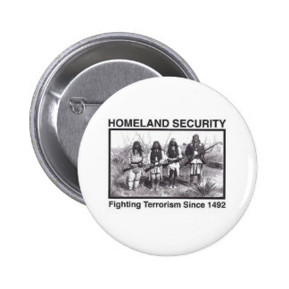White Photo Indian Homeland Security 2 Inch Round Button