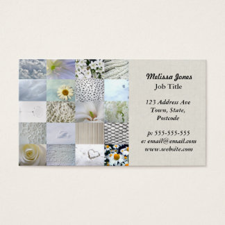 White photography collage business card
