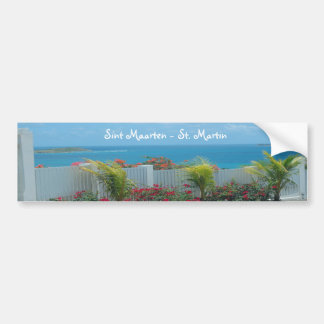 White Picket Fence in Sint Maarten Bumper Sticker