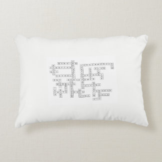 White Pillow with Race Track Crossword Puzzle