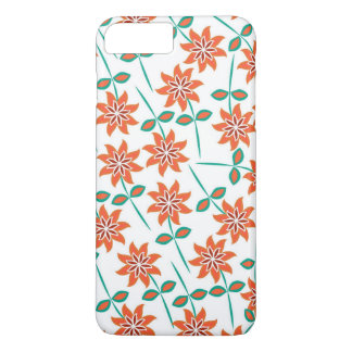 White Pillow with Red Flowers iPhone 7 Plus Case