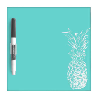 White Pineapple Dry Erase Board