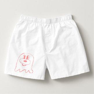 White & Pink 鬼 鬼 Short Boxers