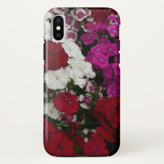 White, Pink and Red Dianthus Floral Photography iPhone X Case