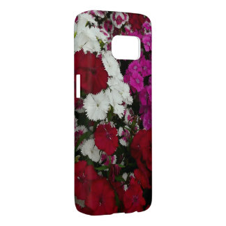 White, Pink and Red Dianthus Floral Photography Samsung Galaxy S7 Case