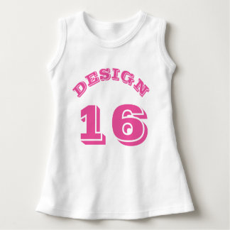 White & Pink Baby | Sports Jersey Design Dress