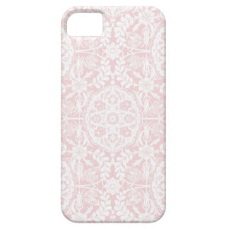 White & Pink Damask Vintage Case For The iPhone 5