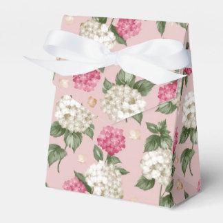 White pink Hydrangea floral seamless pattern Favor Box