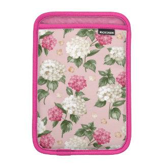 White pink Hydrangea floral seamless pattern iPad Mini Sleeve