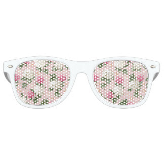 White pink Hydrangea floral seamless pattern Party Shades
