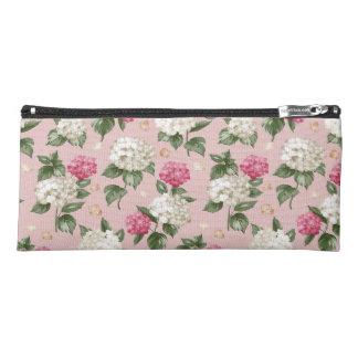 White pink Hydrangea floral seamless pattern Pencil Case