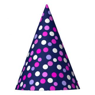 White Pink Purple Blue Circles Balls Paper Cap Hat